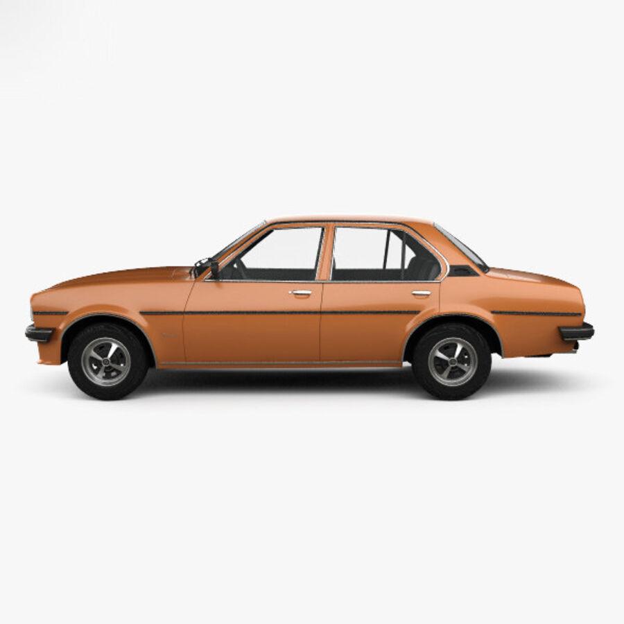 Опель аскона берлина 1975 royalty-free 3d model - Preview no. 5