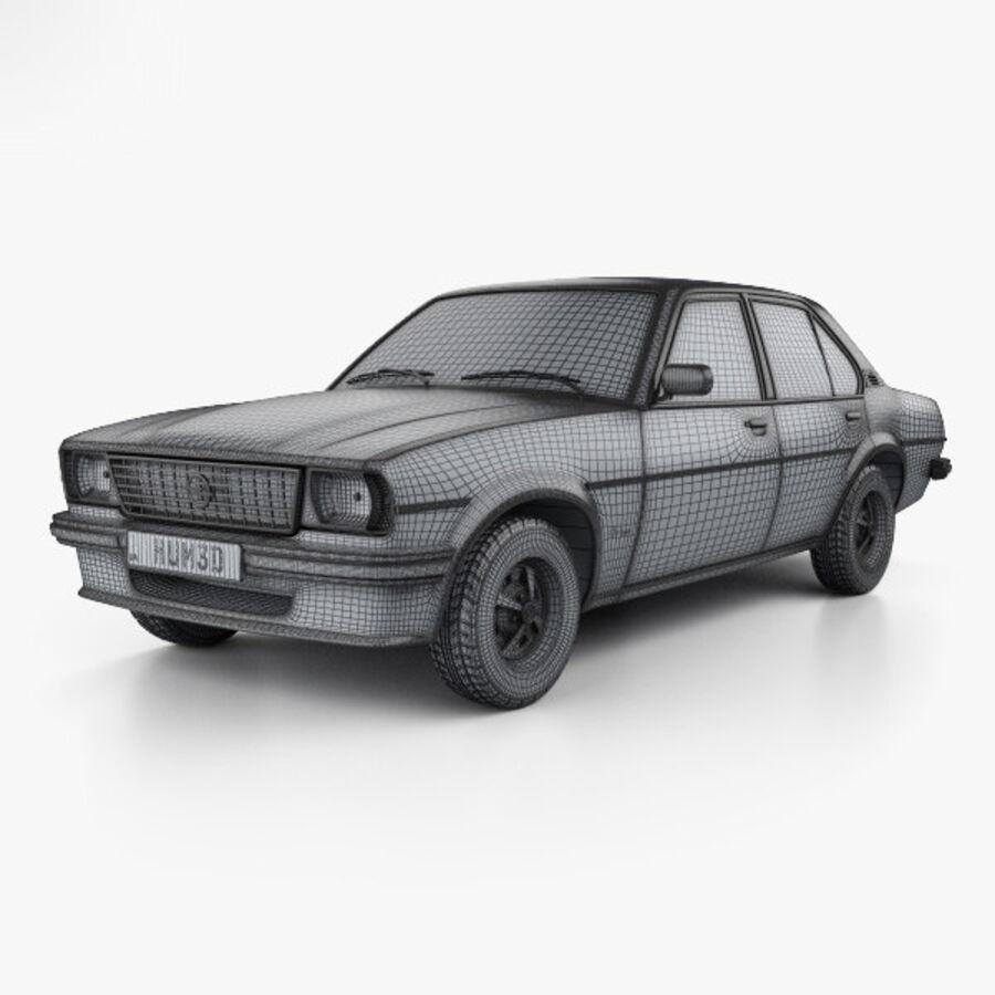Опель аскона берлина 1975 royalty-free 3d model - Preview no. 3