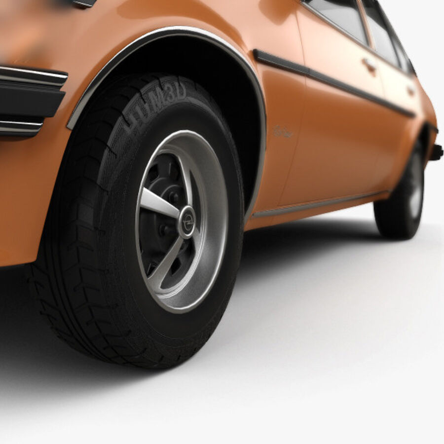 Опель аскона берлина 1975 royalty-free 3d model - Preview no. 8