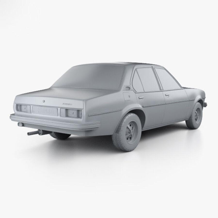 Опель аскона берлина 1975 royalty-free 3d model - Preview no. 12