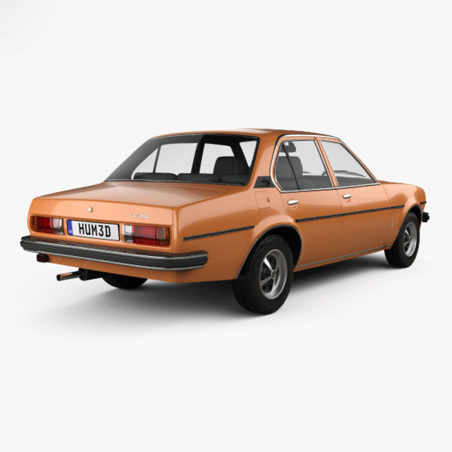 Опель аскона берлина 1975 royalty-free 3d model - Preview no. 2