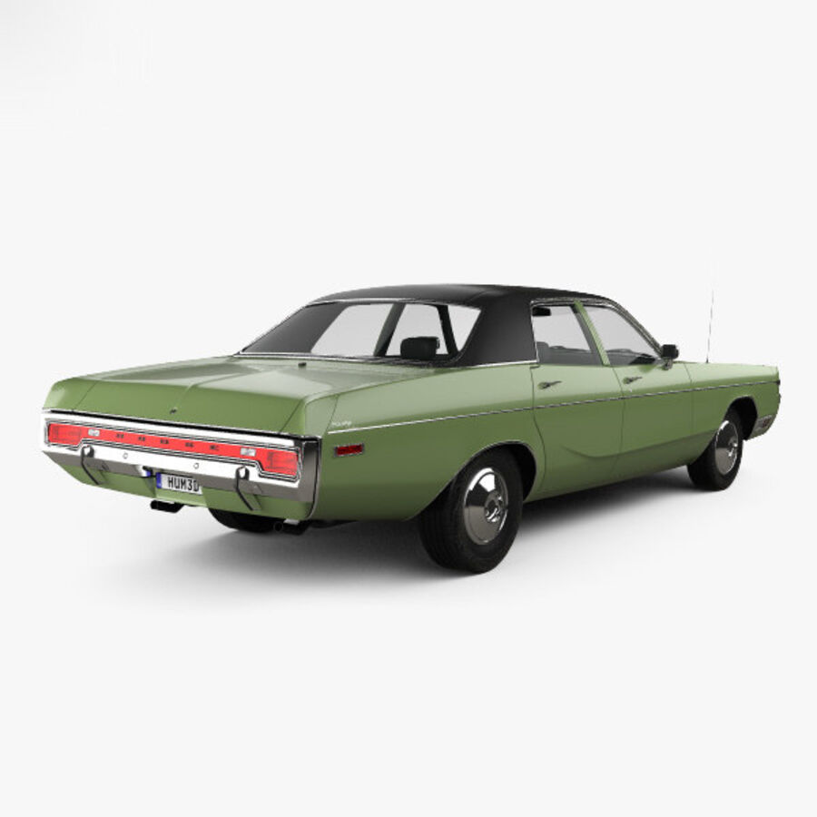 Dodge Monaco седан 1972 года royalty-free 3d model - Preview no. 2