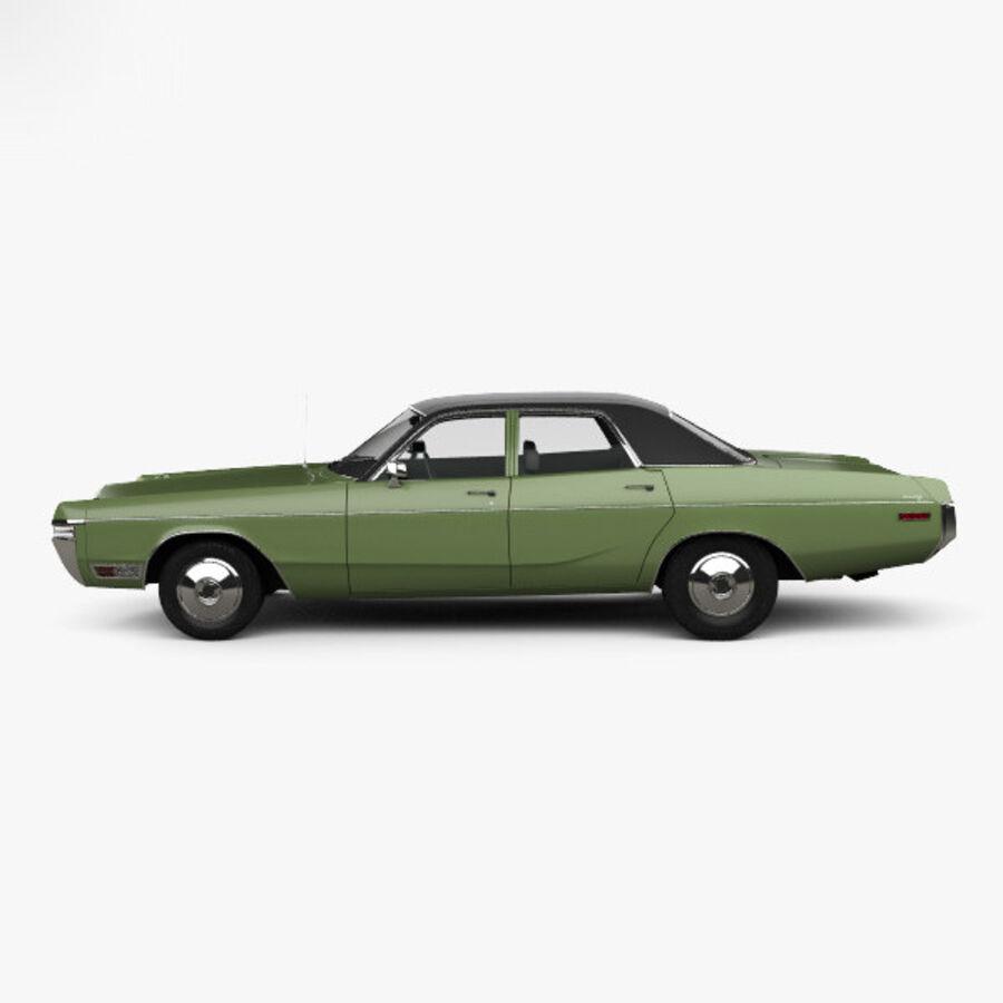 Dodge Monaco седан 1972 года royalty-free 3d model - Preview no. 5