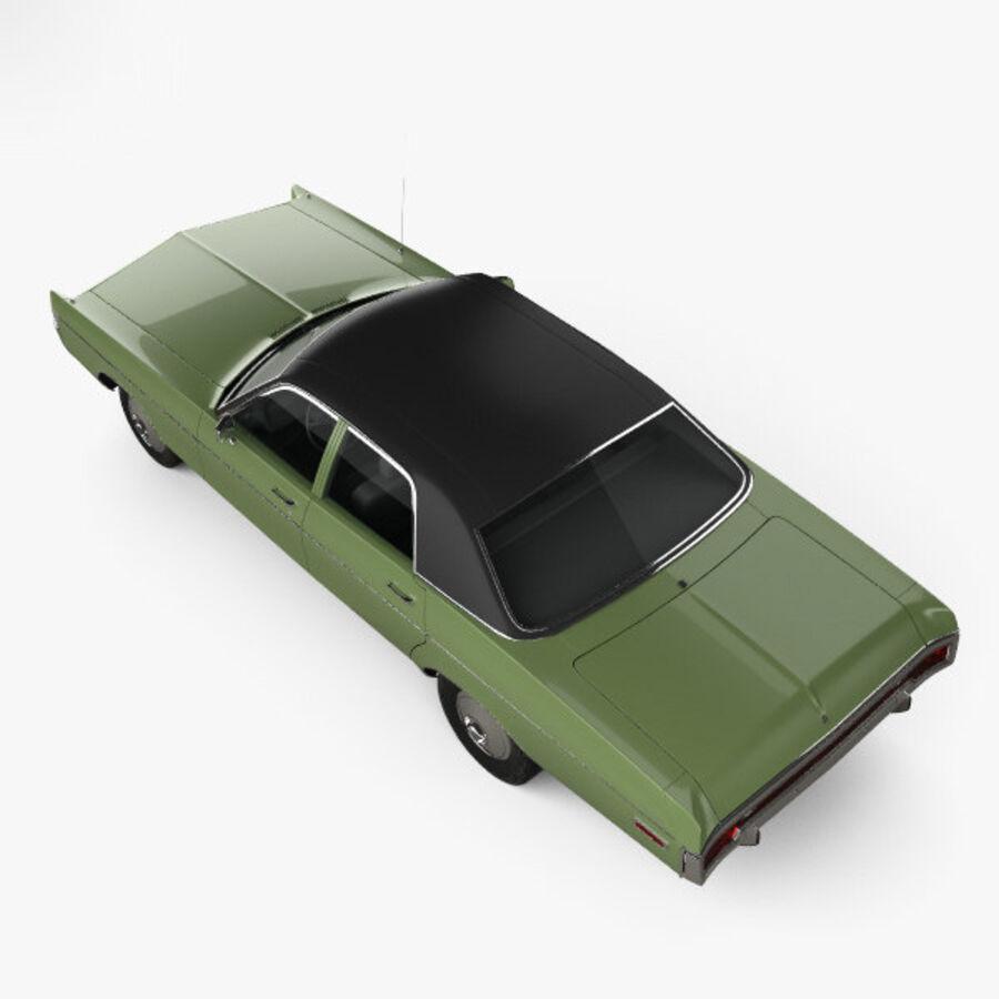 Dodge Monaco седан 1972 года royalty-free 3d model - Preview no. 9