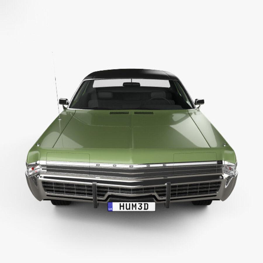 Dodge Monaco седан 1972 года royalty-free 3d model - Preview no. 10