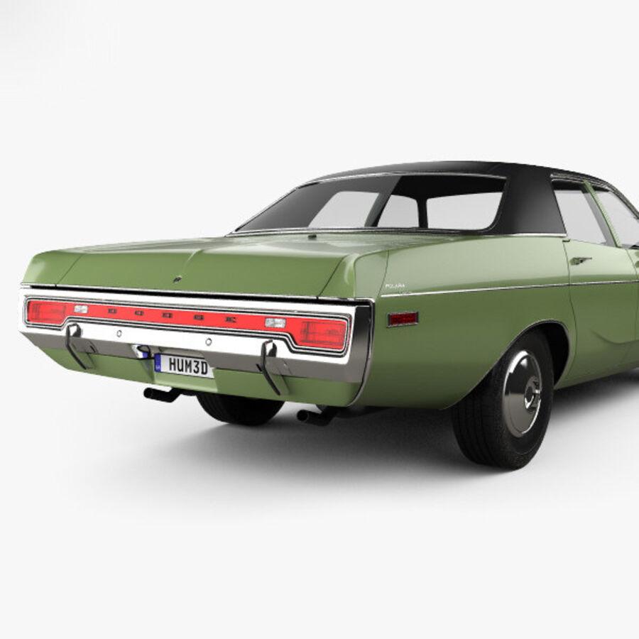 Dodge Monaco седан 1972 года royalty-free 3d model - Preview no. 7