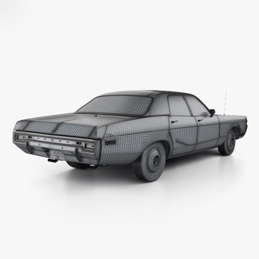 Dodge Monaco седан 1972 года royalty-free 3d model - Preview no. 4