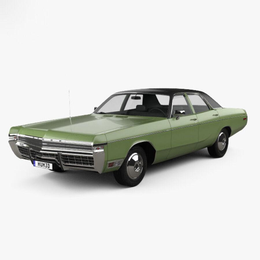 Dodge Monaco седан 1972 года royalty-free 3d model - Preview no. 1