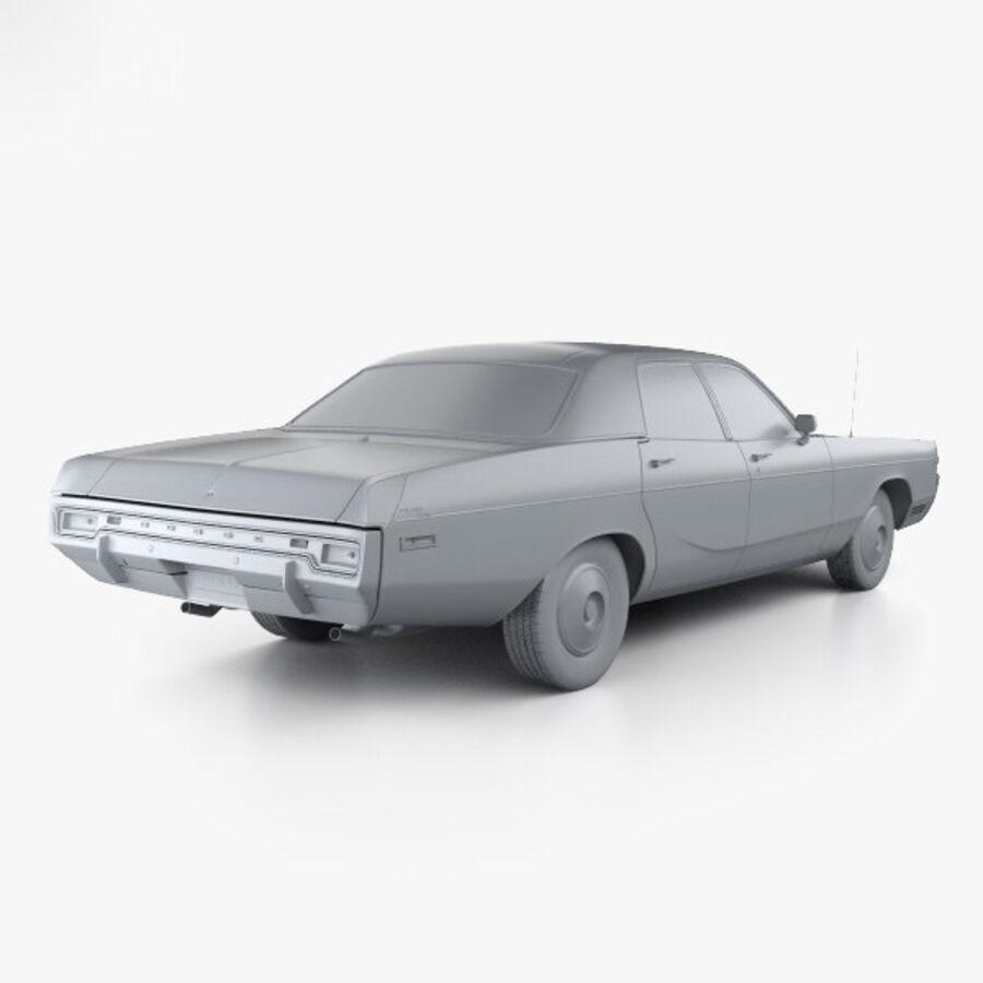 Dodge Monaco седан 1972 года royalty-free 3d model - Preview no. 12