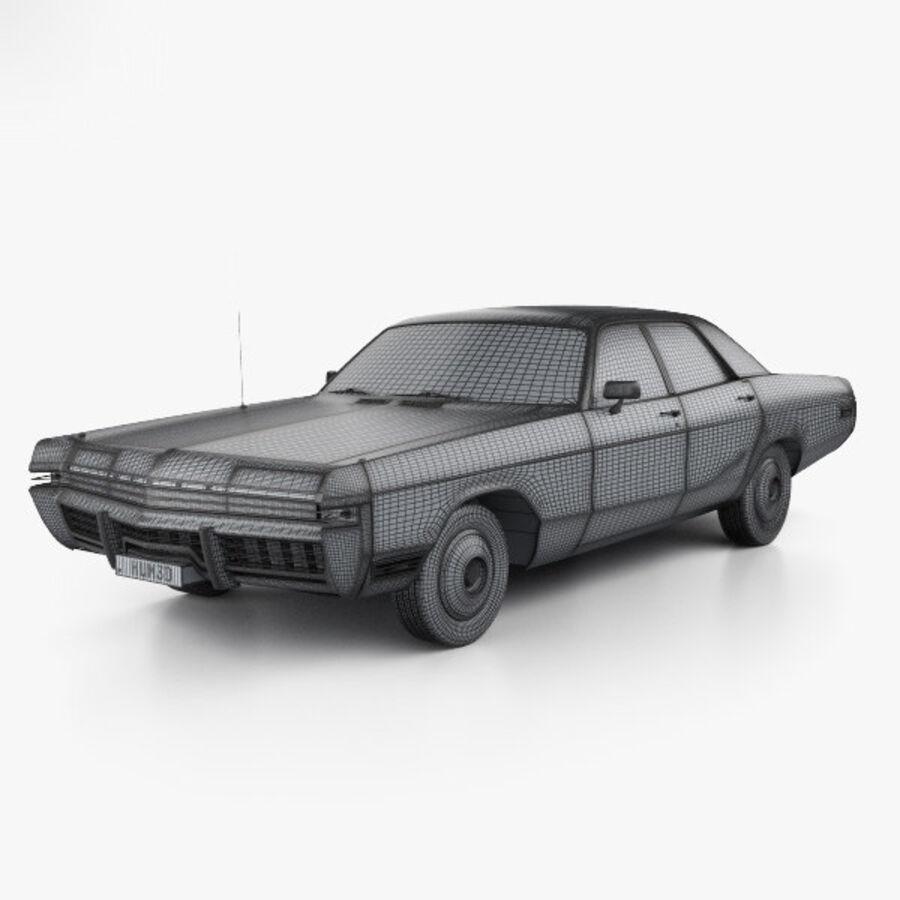 Dodge Monaco седан 1972 года royalty-free 3d model - Preview no. 3