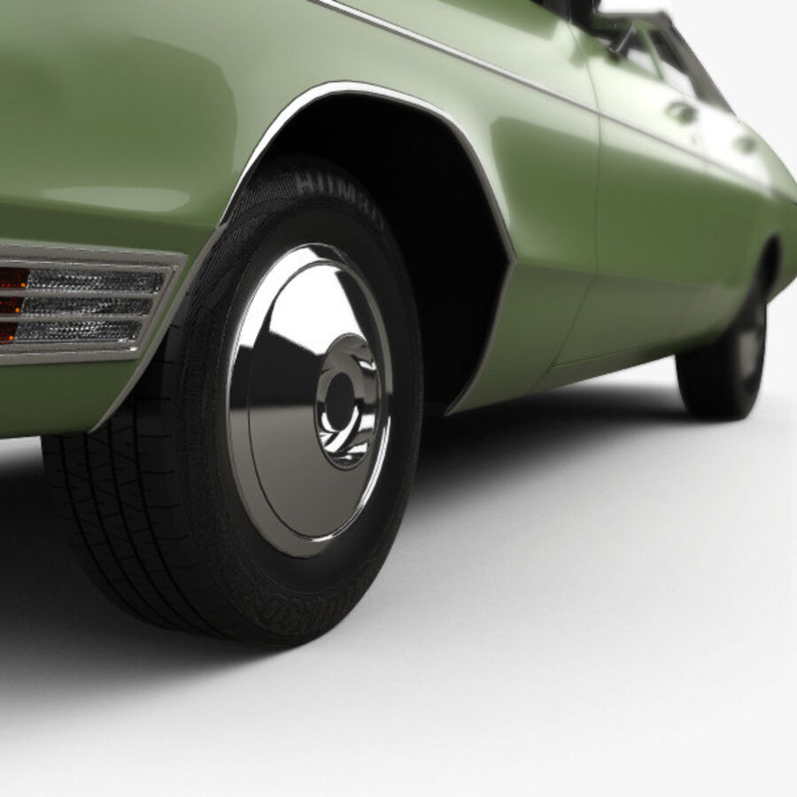 Dodge Monaco седан 1972 года royalty-free 3d model - Preview no. 8