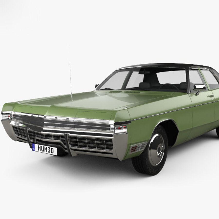 Dodge Monaco седан 1972 года royalty-free 3d model - Preview no. 6
