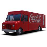 Coca-Cola Delivery Step Van 3d model