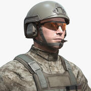Realtime Soldier Character 3d model