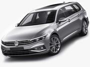 VW Passat Variant 2020 3d model