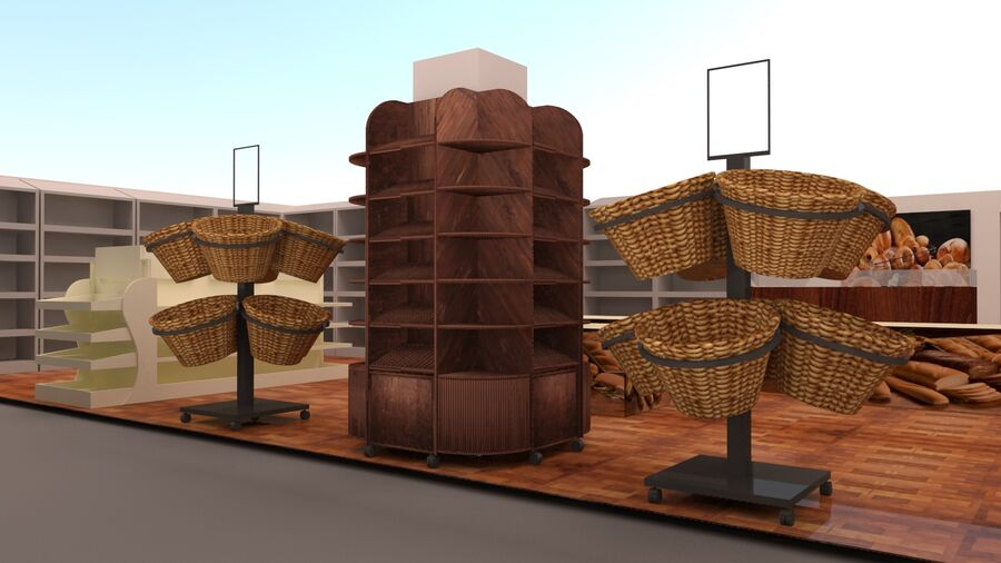 3d bakery royalty-free 3d model - Preview no. 3