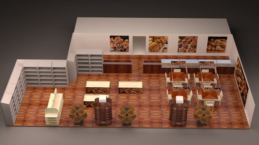 3d bakery royalty-free 3d model - Preview no. 4