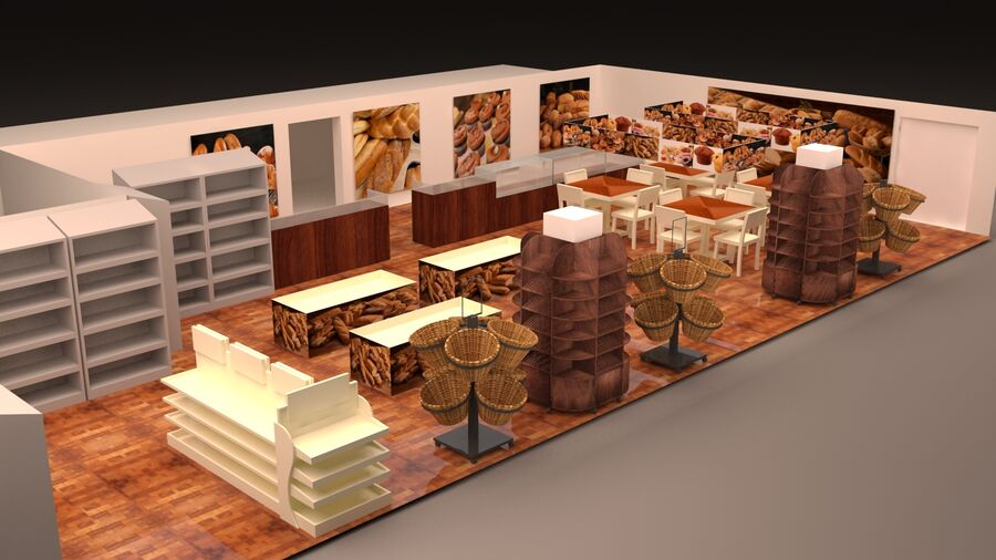 3d bakery royalty-free 3d model - Preview no. 1