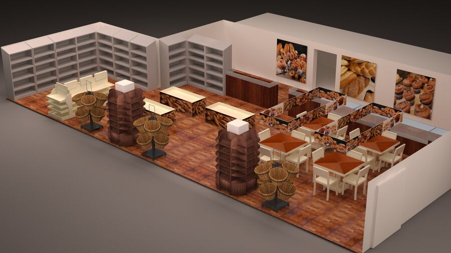 3d bakery royalty-free 3d model - Preview no. 5