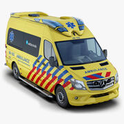 Mercedes-Benz Sprinter Dutch Ambulance (Visser Otaris) 3d model