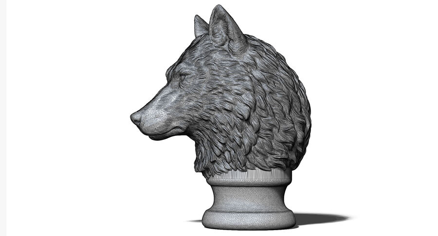 Kurt Kafası Heykeli royalty-free 3d model - Preview no. 9