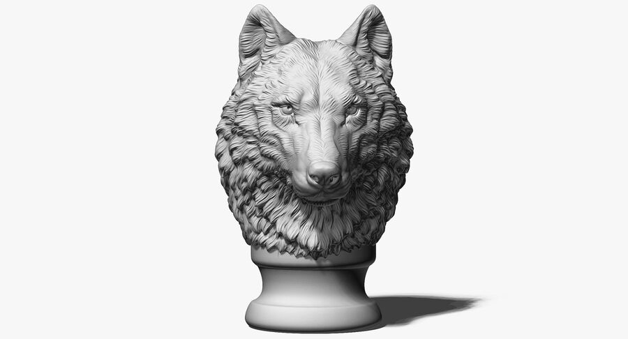 Kurt Kafası Heykeli royalty-free 3d model - Preview no. 5
