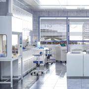 Vetenskapligt laboratorium 3d model