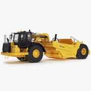Wheel Tractor-Scrapers 3d model