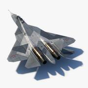 SU57 Prototype 052 3d model