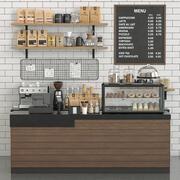 커피 샵 3d model