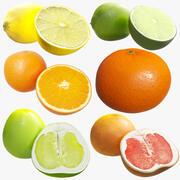 Citrus Fruit x6 Package 3d model