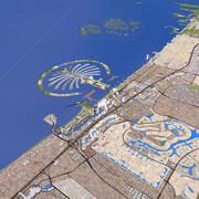 두바이 시티 3d model