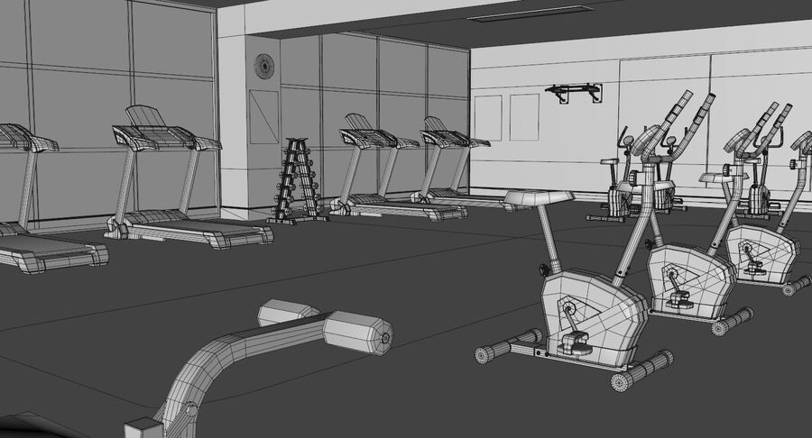 Fitnessstudio royalty-free 3d model - Preview no. 8