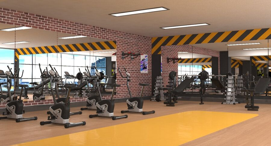 Fitnessstudio royalty-free 3d model - Preview no. 4
