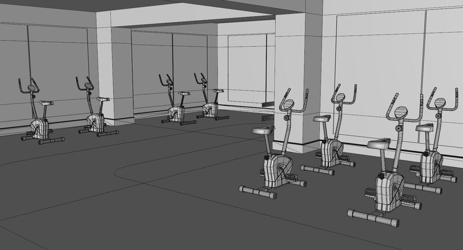 Fitnessstudio royalty-free 3d model - Preview no. 12