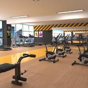 Fitnessstudio 3d model