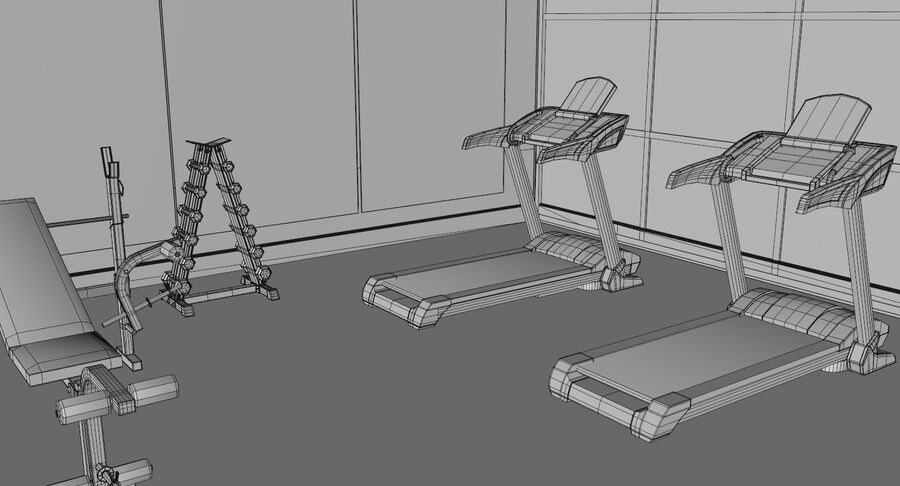 Fitnessstudio royalty-free 3d model - Preview no. 9