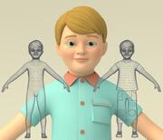 Ребенок мальчик 3d model