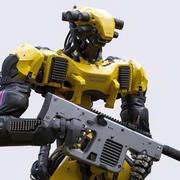 Character Robot Interceptor Unreal Unity 3d model