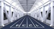 Indoor Race Running Track Innenszene 3d model