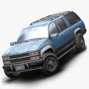 Eski Suv araba düşük poli 3d model
