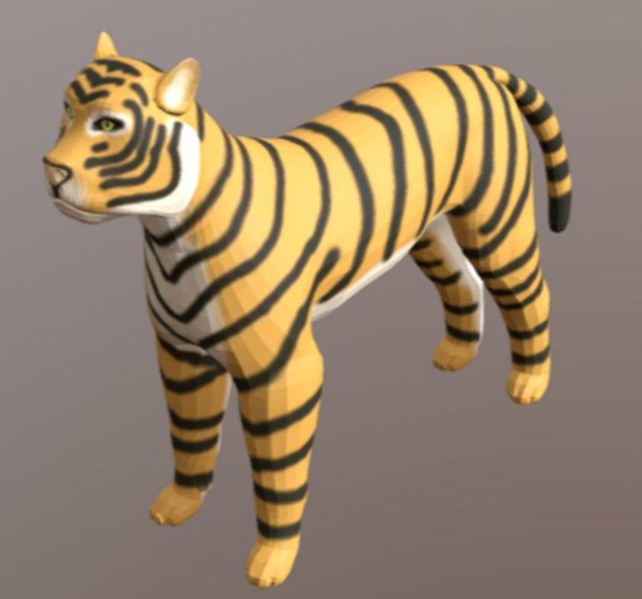 Cartoon Tiger royalty-free 3d model - Preview no. 1