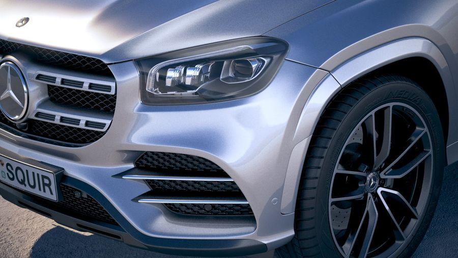 Mercedes-Benz GLS 2020 royalty-free 3d model - Preview no. 3