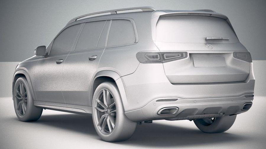 Mercedes-Benz GLS 2020 royalty-free 3d model - Preview no. 24