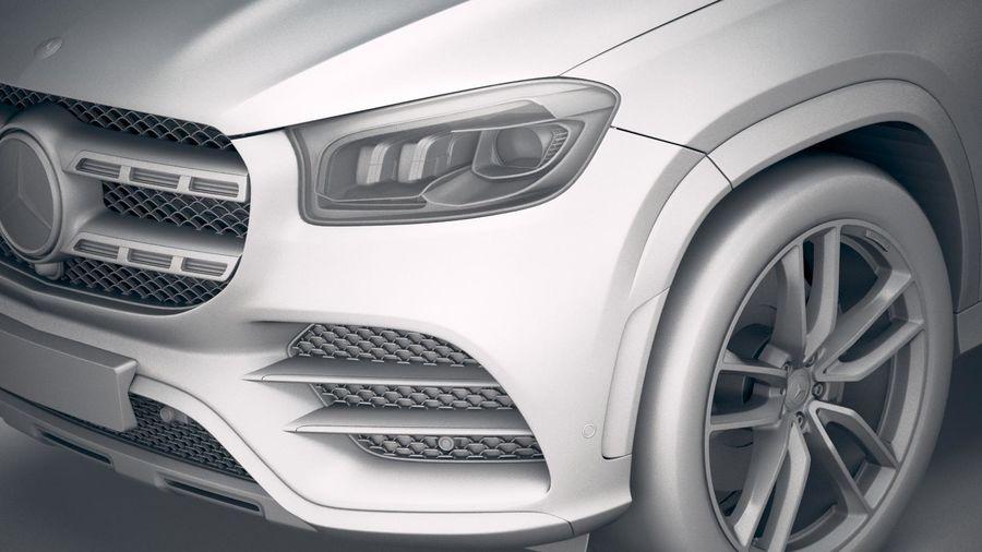 Mercedes-Benz GLS 2020 royalty-free 3d model - Preview no. 19