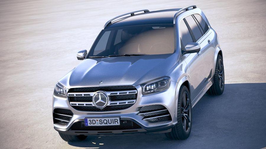 Mercedes-Benz GLS 2020 royalty-free 3d model - Preview no. 2