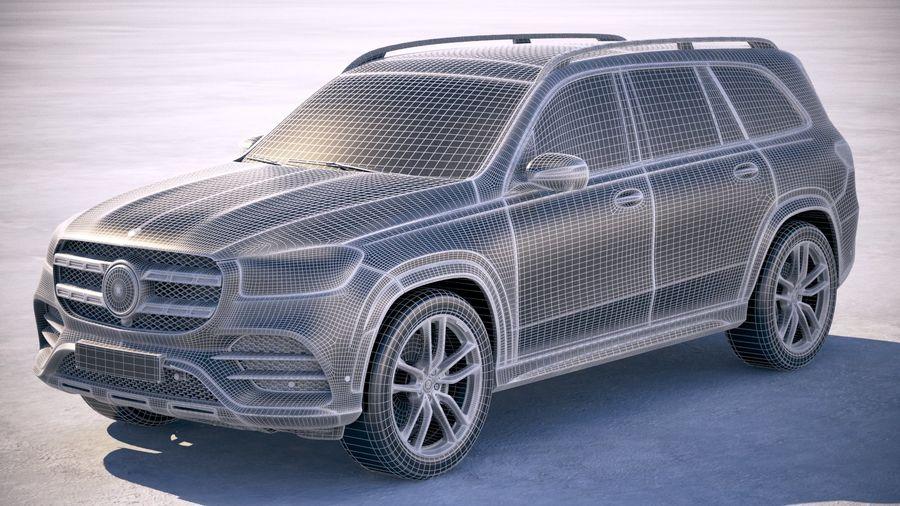 Mercedes-Benz GLS 2020 royalty-free 3d model - Preview no. 25
