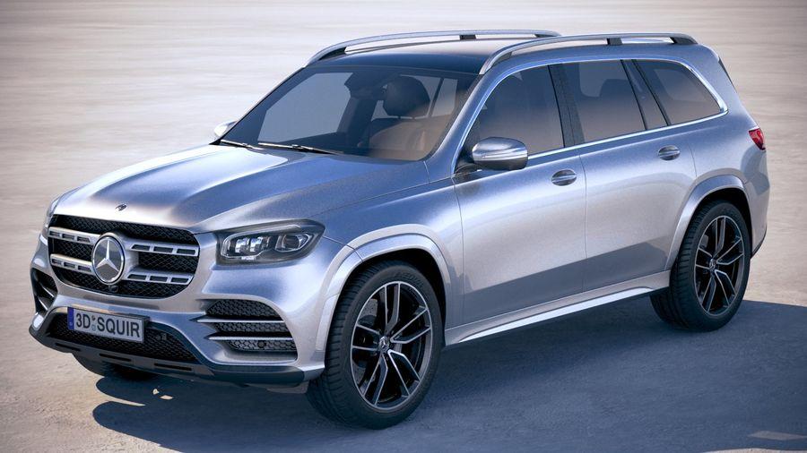 Mercedes-Benz GLS 2020 royalty-free 3d model - Preview no. 1