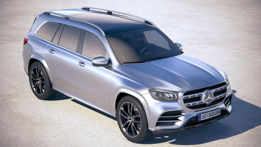 Mercedes-Benz GLS 2020 royalty-free 3d model - Preview no. 12