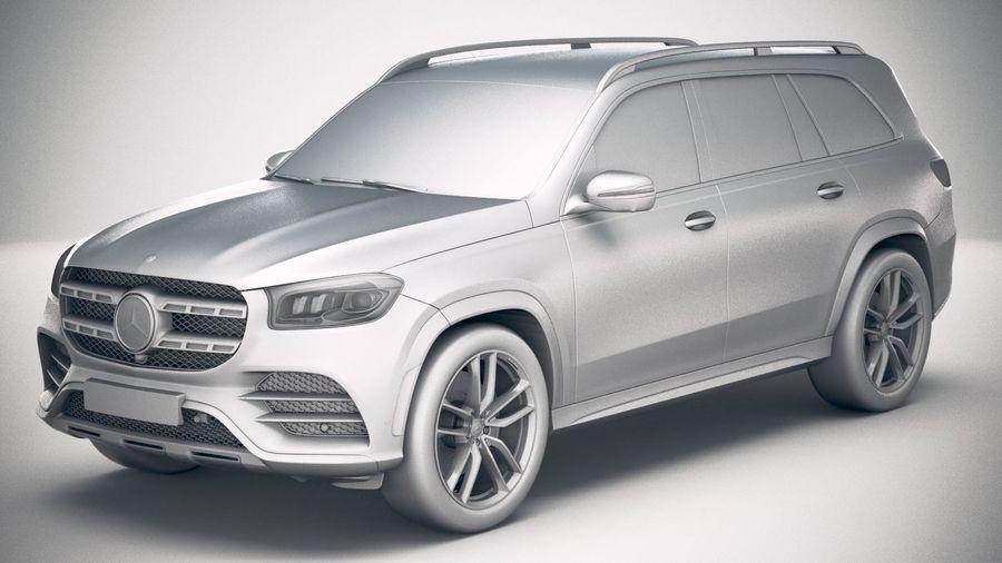 Mercedes-Benz GLS 2020 royalty-free 3d model - Preview no. 18